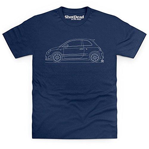 PistonHeads Cinquecento Hothatch T-Shirt, Herren Dunkelblau