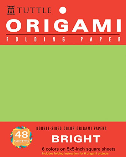 Origami Folding Paper: Bright: Double-Sided Color Origami Papers: 6 Colors on 5x5-Inch Square Sheets (Origami Paper Packs)