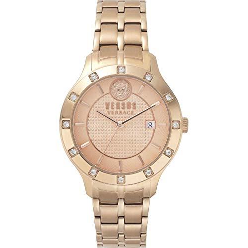 Versus by Versace Damen Analog Quarz Uhr mit Edelstahl Armband VSP460418