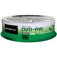 Sony 25DPW47SP - SONY 25 X 4.7GB DVD+RW 4X REC SPEED