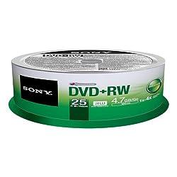 Sony 25dpw47sp - Dvd+rw (Rewr.) 4x Spindle 25pcs - .