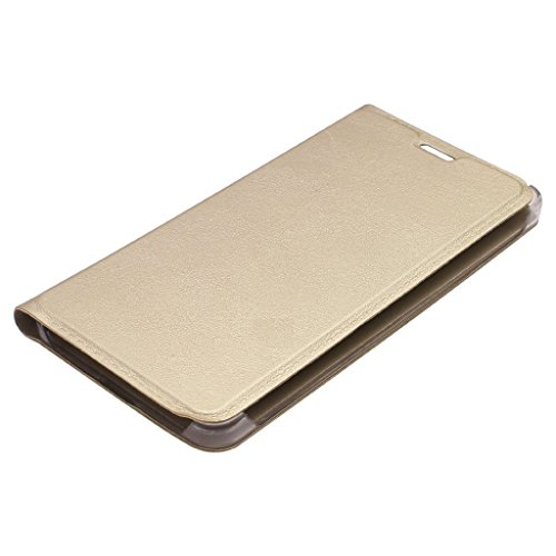 Yunikase Leather Finish Flip cover for Lenovo Vibe K4 Note – GOLD