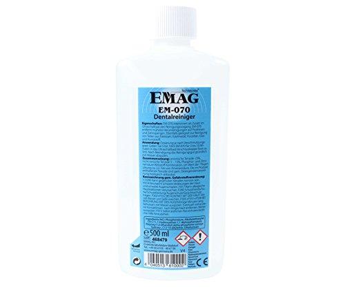 EMAG EM-070 Dentalreiniger: Ultraschallreiniger-Konzentrat zur Reinigung von Zahnersatz, speziell für Ultraschallgeräte, 500 ml (Ultraschall-geräte)