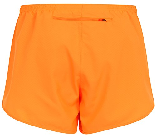Nike Modern Embossed Tempo Dri-Fit Femme Courses à Pied Shorts, Orange Orange
