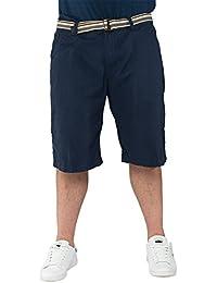 Kangol - Short chino Bothany marine - Kangol grande taille homme - Bleu
