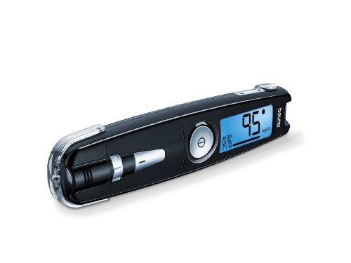 Beurer GL 50 Misuratore di Glicemia 3 in 1 (mg/dL) Senza Codifica, Penna Pungidito, Plug in USB/Software Integrato e Misuratore in un Solo Strumento, Nero
