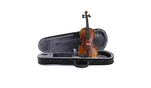Stagg VN-4//4 EF Geigenset 4//4 vollmassive Violingarnitur mit Ebenholzgriffbrett