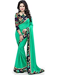 Shiroya Brothers Women's Cotton Silk Saree With Blouse Piece (Sb_Sari_204,Black,Free Size)