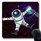 Luancrop Tappetini per Computer Veicoli Spaziali Pianeta Tuta Spaziale Satellite Anteriore Scienza della Terra Galassia Tecnologia Spaziale Astronauta Mouse Esterno Antiscivolo Gioco per Mouse