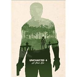 Póster 21 x 30 cm: Alternative Uncharted 4 Videogame Art Print de Golden Planet Prints - impresión artística, Nuevo póster artístico
