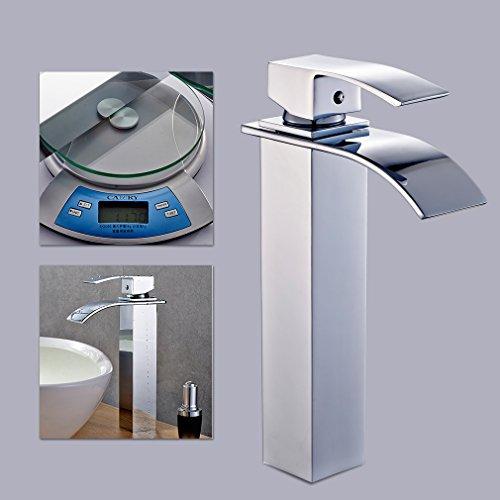 Auralum® Verlängerte Einhebel Waschtischarmatur - 4