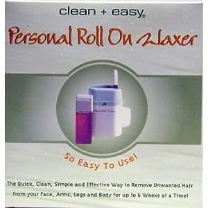 Clean & Easy - Epilateur à cire rechargeable avec applicateur roll-on et bandes (la recharge seulement pas l'appareil chauffant)