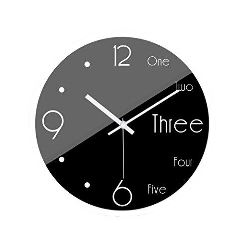 TianJu HWH Wandmontage Uhr, Schwarze Oberfläche (30-35CM) Wanduhr Bar Hotel The Mall Wanduhr XINXIG (Farbe : Weiß, größe : 35 * 35CM)