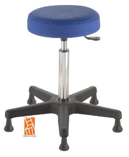 Arbeitshocker , Arzthocker, Drehhocker, Standhocker Modell comfort, Hubbereich ca. 54 -73 cm, rutschfeste Bodengleiter, Sitzfarbe atoll-blau