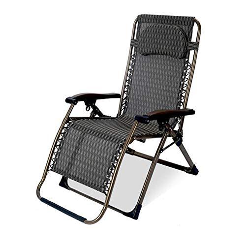 QIDI Sonne Liege Null Schwere Zurücklehnen Relaxer Stuhl Textzeile Multi Position Draussen Garten Terrasse (Farbe : T3) -