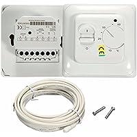 Habitación Premium Suelo Radiante Aire Acondicionado termostato interruptor de control de temperatura 16A 230V blanco