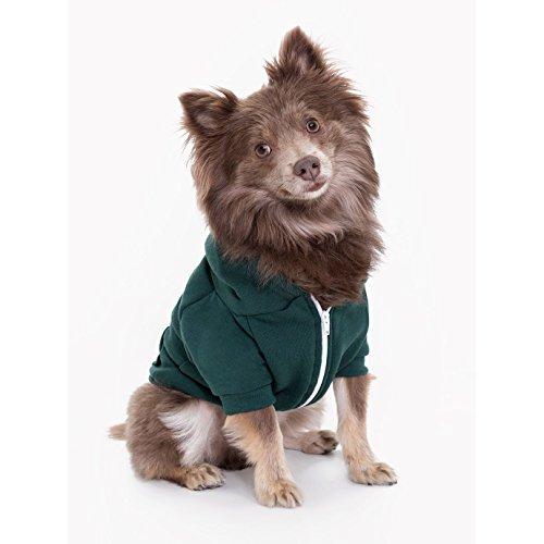 American Apparel - Flex - Felpa con cappuccio e cerniera per cani (L) (Foresta)