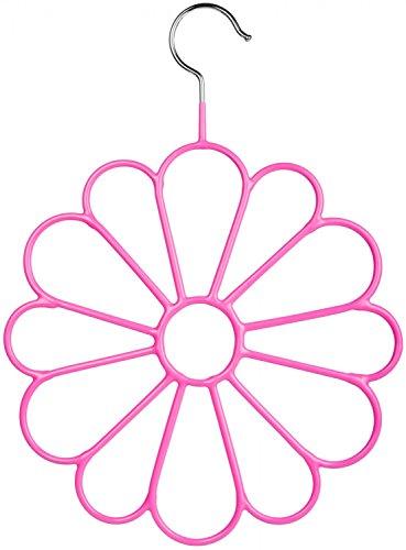 styleBREAKER Schal und Tuch Bügel, Schalbügel, Accessoires-Bügel, Blumenform 05050007, Farbe:Pink