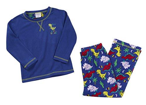 Minikidz Infant Kids Girls Boys Micro Fleece Pyjamas PJ Set Warm Soft Ages 2-6