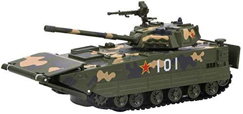 Hyzb 1:50 Maßstab Panzer Amphibie Fahrzeuge Die-Cast Modell Tanks mit Licht und Musik Army Geschenke (Color : Green)