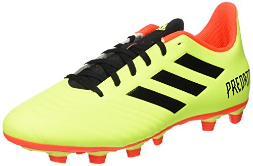 adidas Men    s Predator 18 4 FxG Footbal Shoes  Yellow Core Black Solar Red  9 UK 9 UK