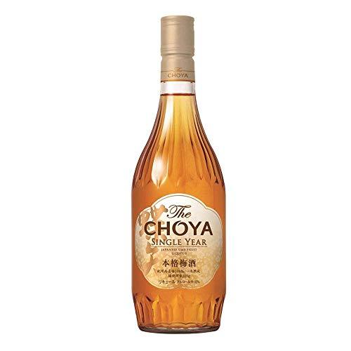 The Choya Single Year (japanischer Fruchtlikör, alkoholhaltiges Getränk aus Japan, Ume Frucht Likör,  15,5% vol.) 1er Pack (1 x 0,7 l)