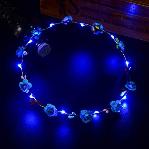 Mitlfuny Karnevalsparty Fancy Festival Zubehör,EL LED Club Party Konzert leuchten hell hell leuchtenden Haarband flexibel (70er Jahre Kostüm Männlich)
