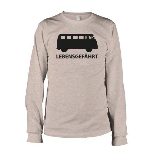 TEXLAB - Bulli T1 Lebensgefährt - Langarm T-Shirt Graumeliert