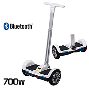 Overb Scooter gyropode électrique 2 roues Smart Balance avec guidon, Bluetooth, 700 W