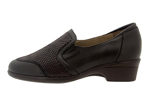 Chaussure femme confort en cuir Piesanto 7614 casual comfortables amples Caoba