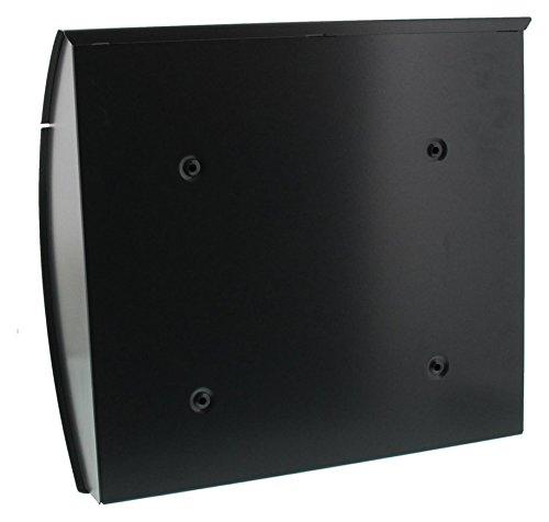 BURG-WÄCHTER, Briefkasten mit Öffnungsstopp, A4 Einwurf-Format, Verzinkter Stahl, Modena 857 ANT, Anthrazit - 2