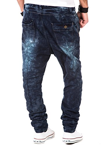 Jogg Jeans Herren Hose Sweatpants Joggjeans Urban Surface Vintage Used Look dark blue Dark Blue