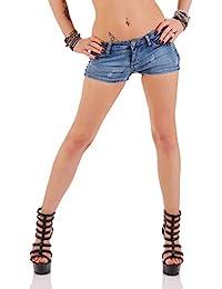 11074 Fashion4Young Sexy Demin Damen Hotpants Shorts kurze Hose Hot Pants Jeans