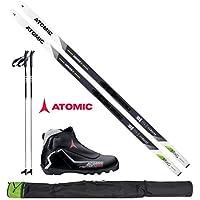 Atomic Langlaufski-Set Mover X in 183cm + Bindung + Schuhe + Stöcke + Skisack 17/18