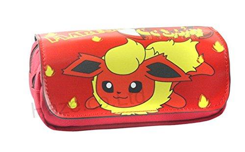Trousse-dcole--deux-compartiments-Pokmon-Pikachu-Flareon