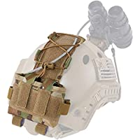 Tactical Helmet Battery Pouch, MK2 Fast Helmet NVG Battery Pack Case Contrapeso Bolsa Balance Weight Bag con Hook N Loop para Hunting Airsoft,MC