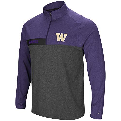 Colosseum Herren NCAA-No mercy-1/4Zip Pullover Windshirt, Herren, Washington Huskies-Heather Purple, X-Large 1/4 Zip Windshirt