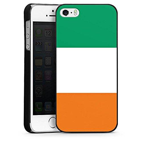 Apple iPhone 5s Housse Étui Protection Coque Côte d'Ivoire Drapeau Ballon de football CasDur noir