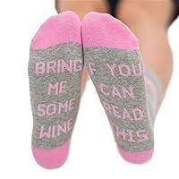 Si vous pouvez lire ce (veuillez me) apportent un verre de vin/bière froide/café homme et femme fantaisie funky long Crew chaussettes Pourquoi choisir nos chaussettes? * Le principal Matériau est en coton de haute qualité. Nos chaussettes a bon res...