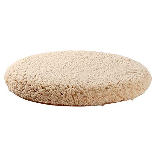 JianMeiHome Kissen Stuhlkissen Sitzkissen Tatami Mat Plüsch runden Kissen Speicher Baumwolle Esszimmer Stuhl Kissen Wohnzimmer Boden Kissen braun (Size : 50cm in Diameter) -
