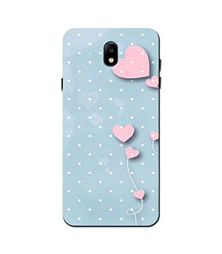 Aarfa Slimfit Durable Printed Hard Case for Samsung Galaxy J7 Pro (Heart)