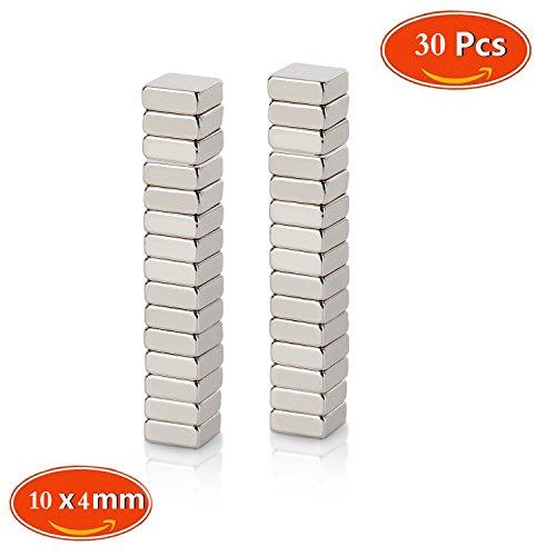 Neodym Magnet, Mini Magnete, quadratisch N48 Stärke 30 Stück 10x 10 x 4 mm ffür Kühlschrank und Magnettafeln, Magnete für Magnettafeln, Magnete für - Quadratische Magnete