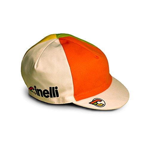 Cinelli Italo 79 Cap, schwarz, Hut, weiß, Einheitsgröße -