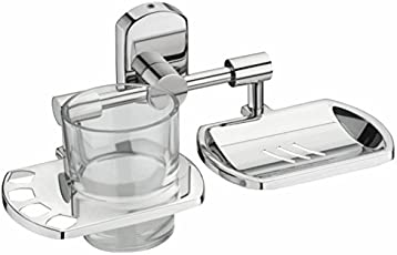 Jovial 208 Curio Soap Dish Holder with Toothbrush Holder