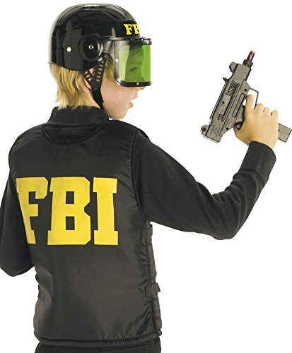Einsatzweste FBI, kugelsichere Weste SWAT für Karneval Fasching, Spiel (164) (Kugelsichere Weste Kostüm)