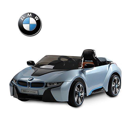 BMW i8 Voiture Véhicule Electrique pour Enfant 3-8ans 2 moteurs 12V 3-6km/h Phare Musique Télécommande Bleu Neuf 01BU