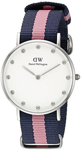 Daniel Wellington 0962DW Orologio da donna, cinturino di tessuto multicolore