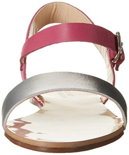 Shoe Biz Flat, Sandales Compensées Femme Multicolore (vegetal Silver Tyrkis)