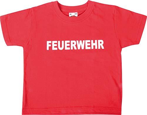 EDUPLAY 230049Feuerwehr T-Shirt, Unisex, Rot, Größe XS
