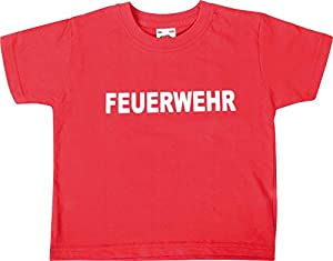 EDUPLAY 230051 Firefighter - Camiseta unisex, color rojo, talla pequeña
